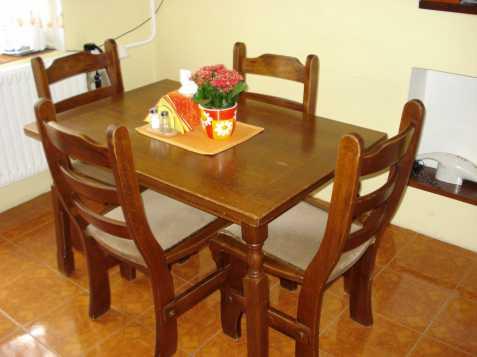 Prodám stůl a 4 židle-MASIV!, prodám, na prodej
